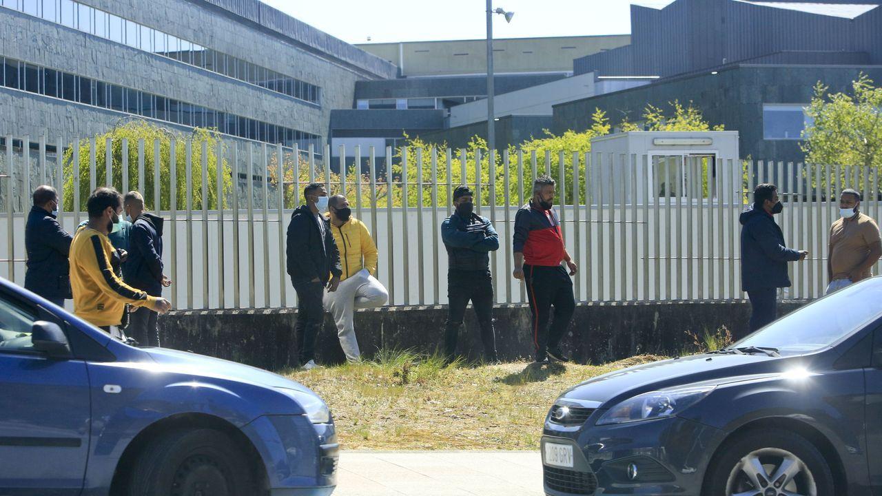 Así es el cámping de A Fonsagrada.Familiares de los dos clanes de la pelea que se produjo el pasado jueves en Lugo en las inmediaciones del HULA