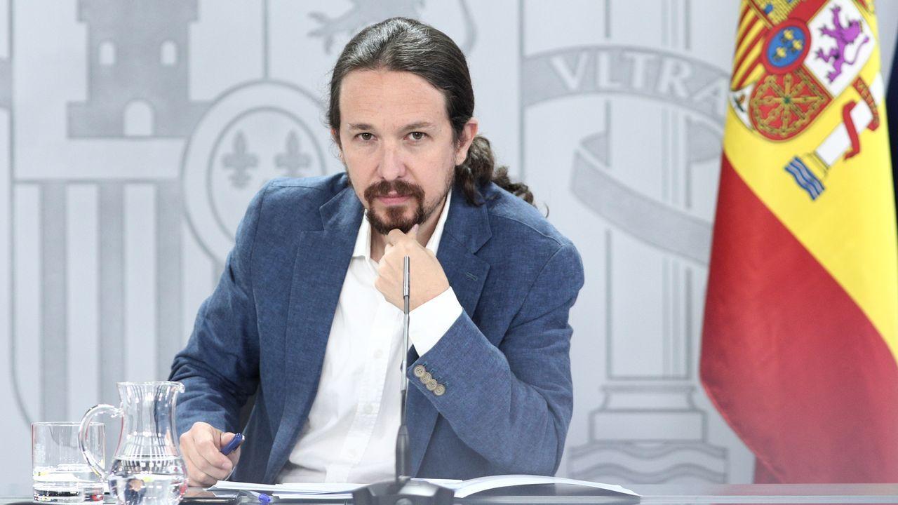 El vicepresidente y ministro de Derechos Sociales Pablo Iglesias, ayer tras el consejo de ministros