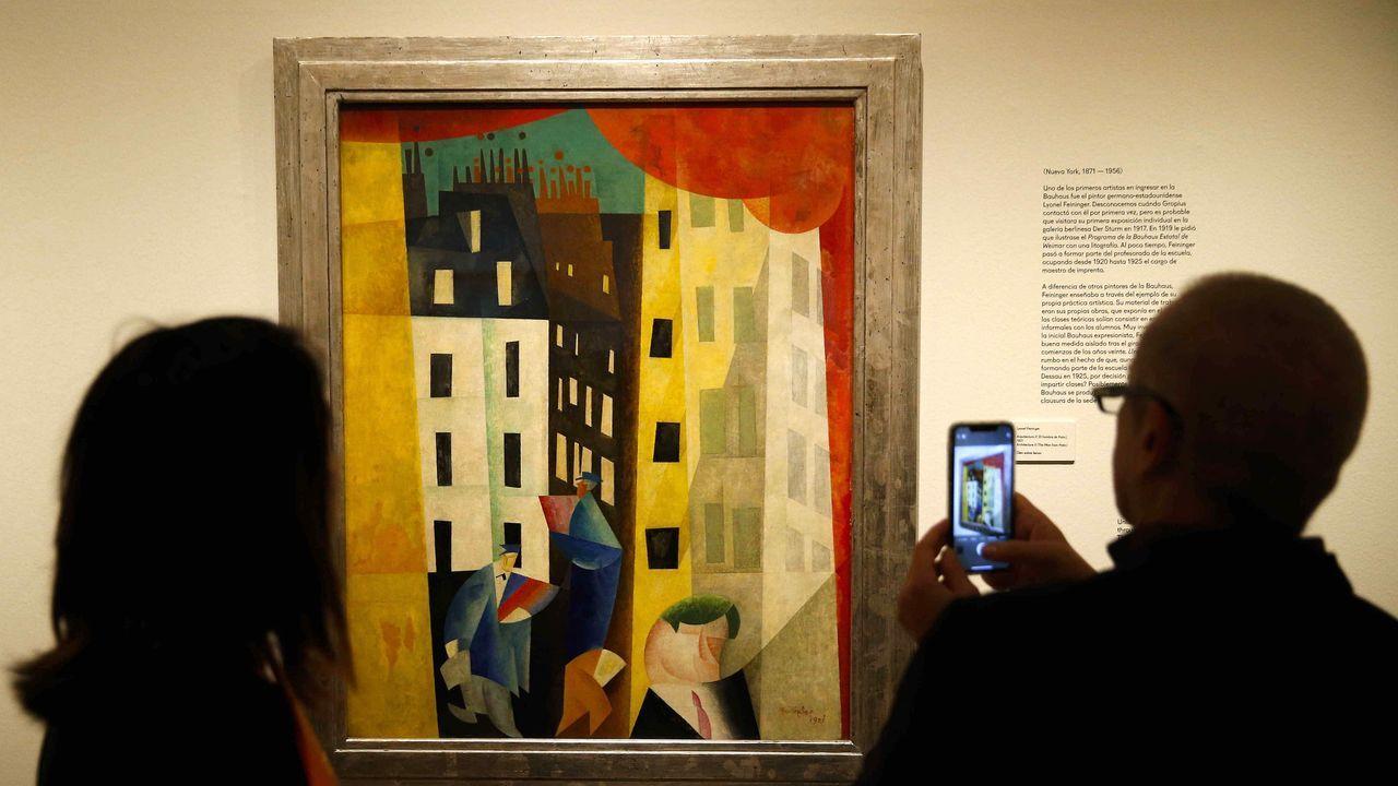 «Arquitectura II (El hombre de Potin», de Lyonel Feininger