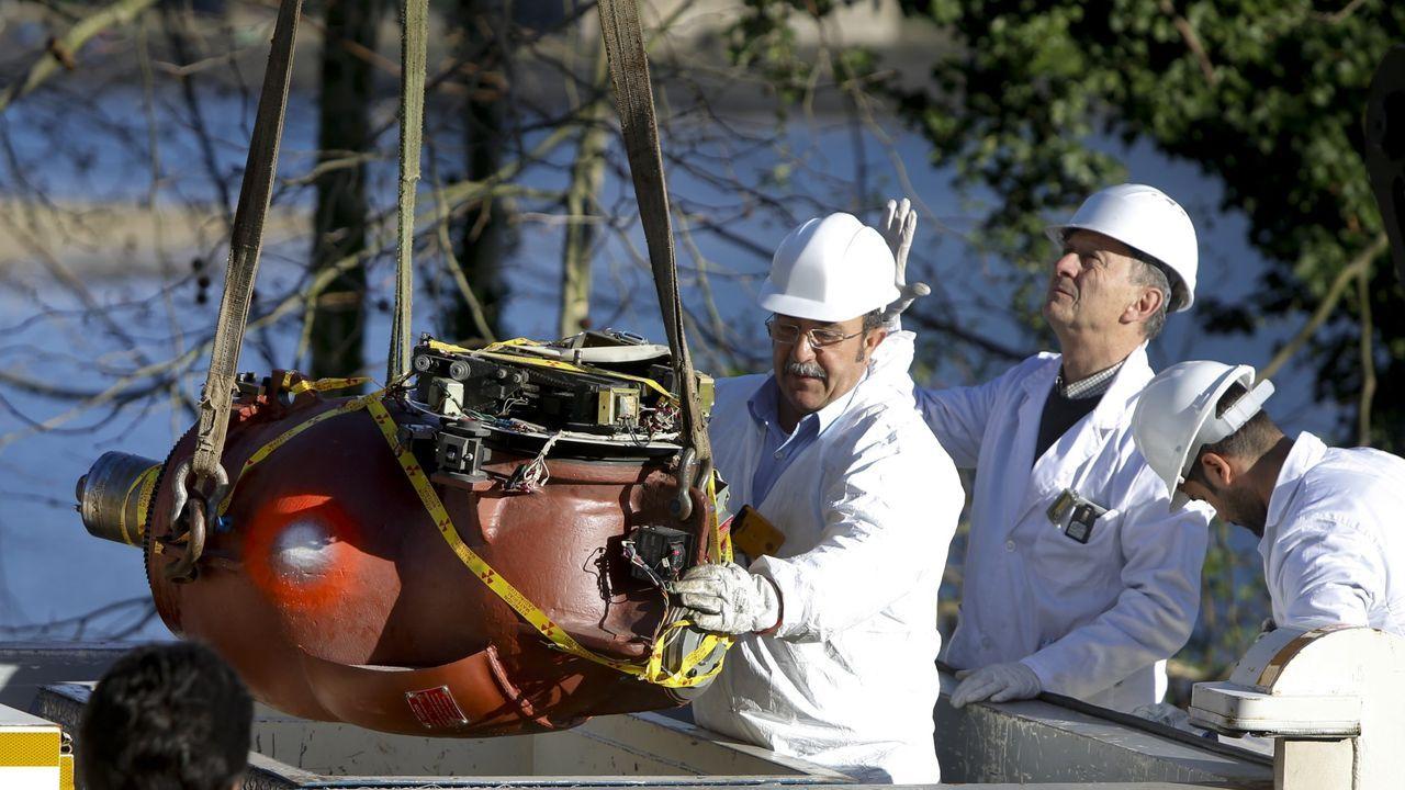 Retirada de la bomba de cobalto para tratamientos de radioterapia, operativa desde 1982