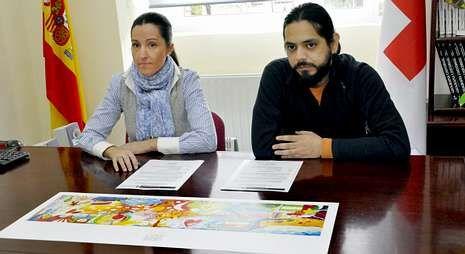 gRAFICO PORTADA H.Marián Vélez y Augusto Metztli presentaron ayer la lámina del regalo navideño solidario.