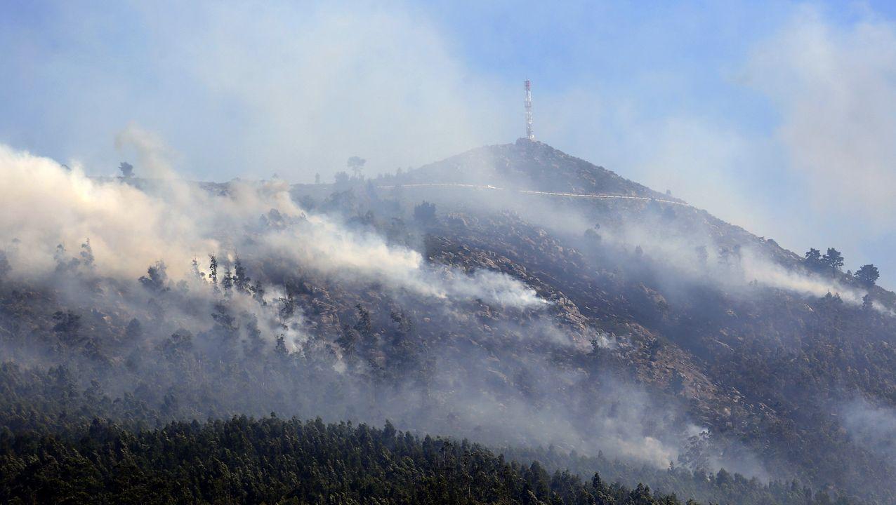 Imagen del incendio que arrasó cerca de 48 hectáreas en Santa Cruz de Lesón el pasado 11 de julio