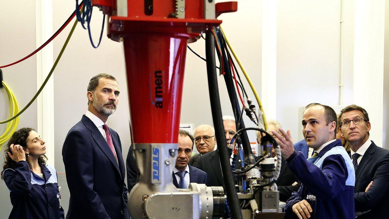Visita del rey al centro tecnológico Aimen, en su 50 aniversario, en julio del 2017.