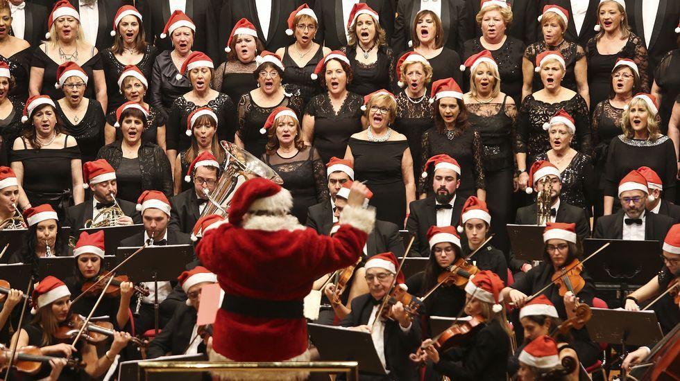 Concierto de Navidad de la Coral Casablanca, en Vigo
