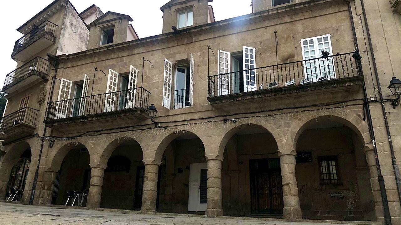 El Fogar do Transeúnte, en la praza do Trigo (Ourense)