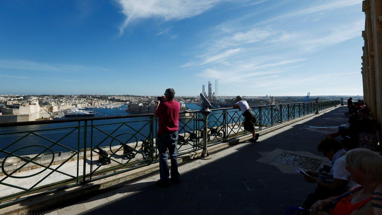 Vista del puerto de La Valeta