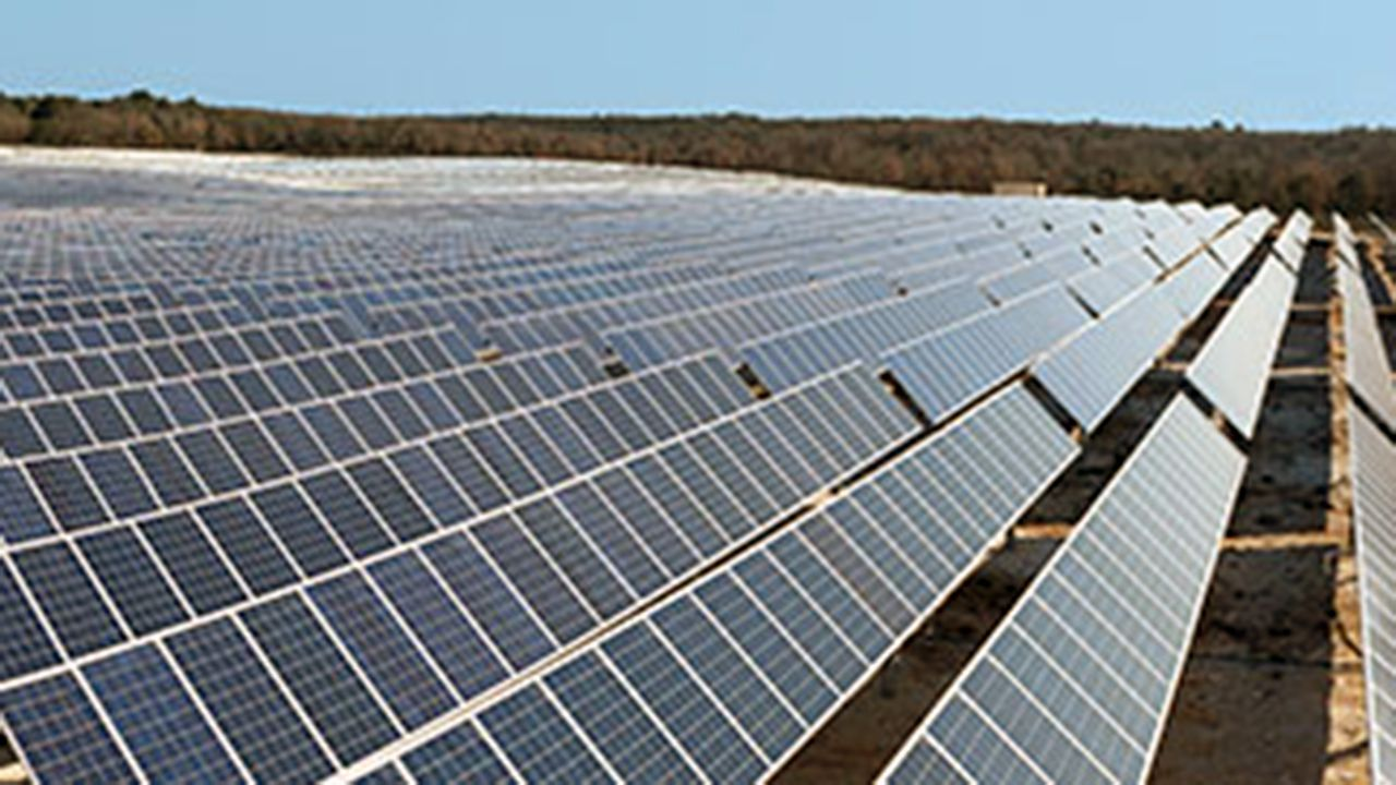 Granja de paneles solares