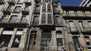 Así está el accesoprincipal a la Casa Taboada, en la ciudad de Ourense