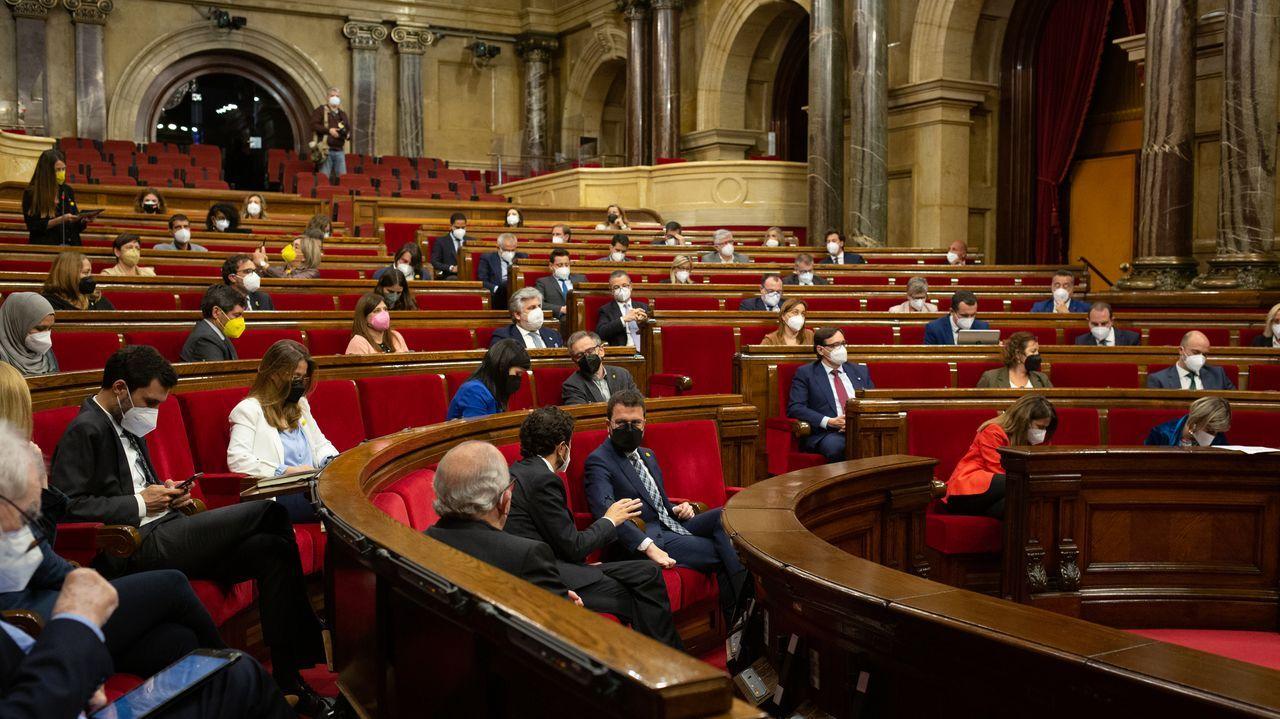 El líder del PSC en el Parlamento catalán, Salvador Illa