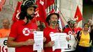Los bomberos de Vigo comienzan la primera huelga de su historia