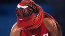 Naomi Osaka, tras caer eliminada este martes del torneo individual de los Juegos.