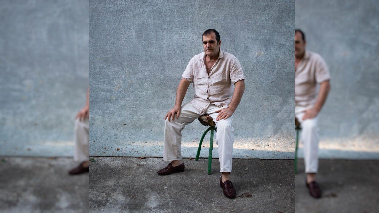 Leiro fotografiado por el exconselleiro de Cultura Roberto Varela
