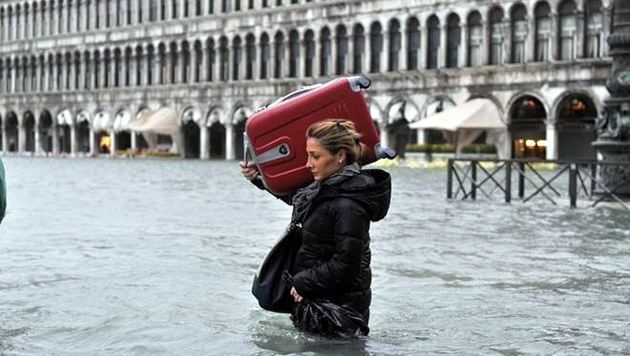 Cuando el Adriático inunda Venecia