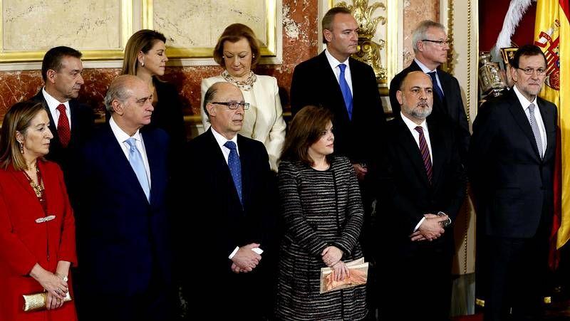 La Constitución cumple 35 años.Pedro Antonio Sánchez, a la izquierda, junto a Mariano Rajoy y el candidato a la alcaldía de Murcia.