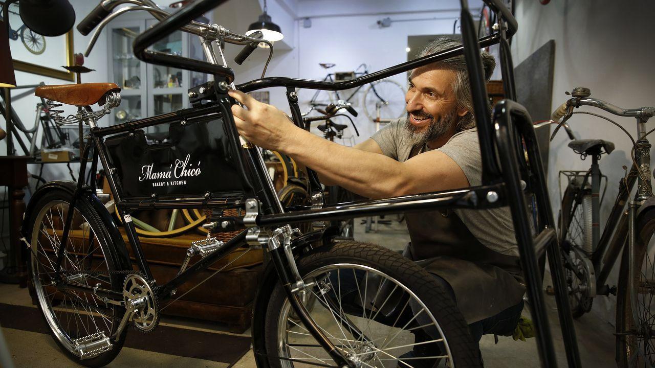João Assunção del taller Bicivintage dedicado a las bicicletas antiguas