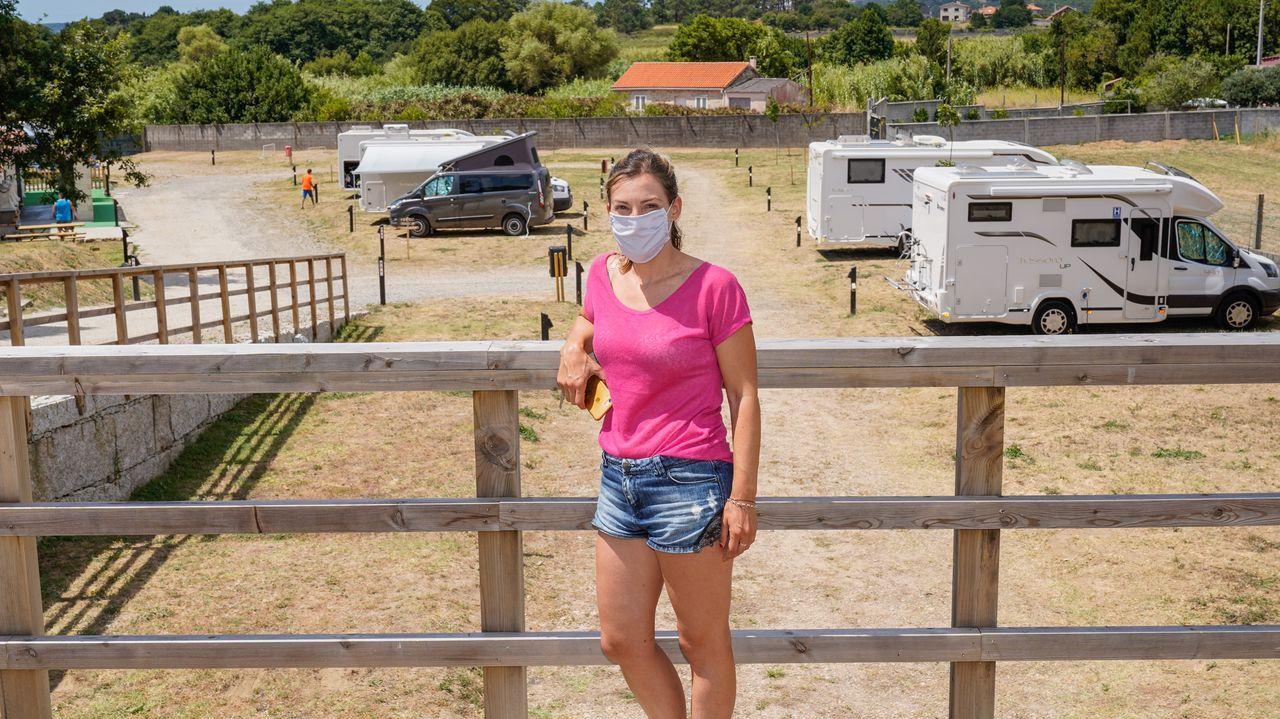 Natalia Creo, propietaria del área para autocaravanas Apartadiño Camper Park