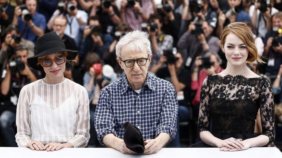 Parker Posey, Woody Allen y Emma Stone