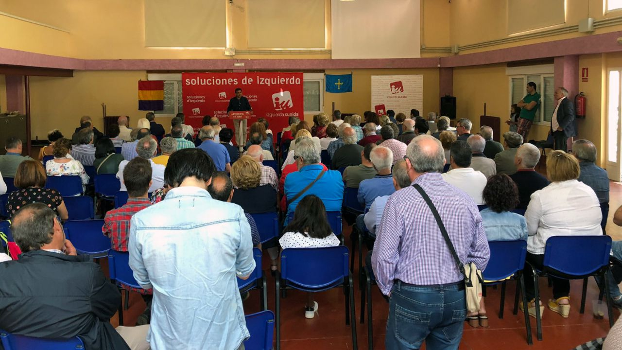 La consejera de Cultura del Principado en la Junta General  .Un acto de Izquierda Unida de Asturias