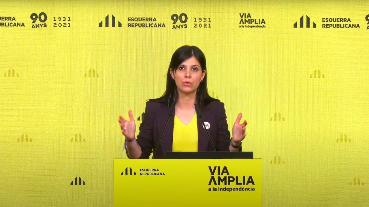 Elsa Artadi, vicepresidenta de Junts, en rueda de prensa telemática