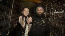 Dori y Jorge, en sus bodegas en Castrelo de Miño