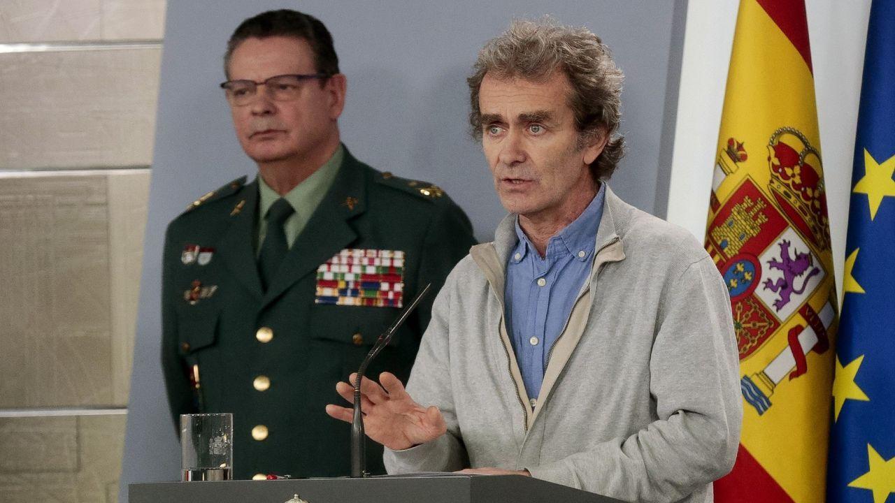 Pedro Sánchez explica la petición que hará al Congreso para prolongar el estado de alarma.El despliegue de la fuerza de la Armada, en Fene