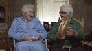 Victorina de Vilar (informante de Dorothé) e María de Fetós, ambas de Carnota, nun fotograma do documental