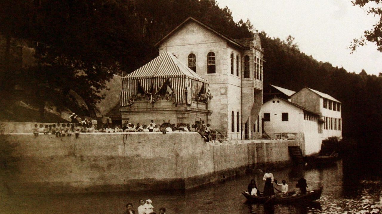 Foto de archivo del Balneario del Lérez en Monte Porreiro