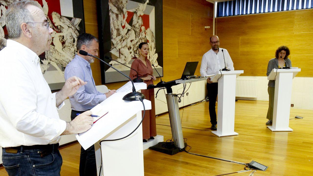Así fue el debate entre los candidatos al Concello de Santiago.Alberto Núñez Feijoo, presidente de la Xunta