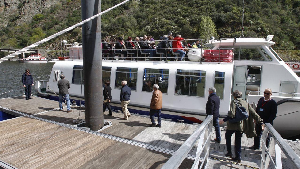 Uno de los fines del plan es limitar el impacto ambiental de las embarcaciones turísticas que cubren las rutas del Sil -en la imagen- y del Miño