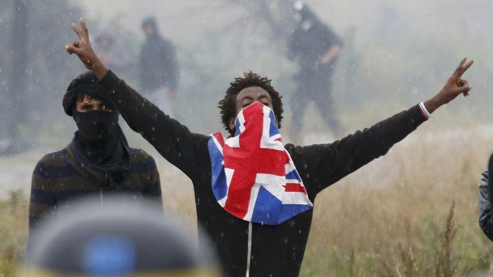 Los disturbios en la «Jungla de Calais».Budapest.