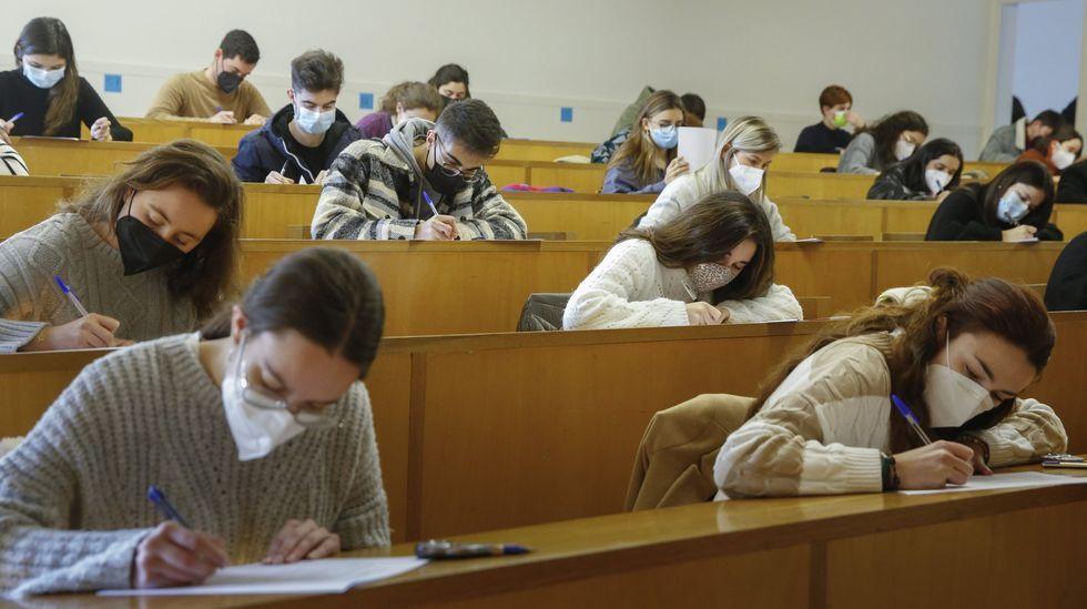 Examen presencial el pasado mes de enero en Xornalismo, en Santiago