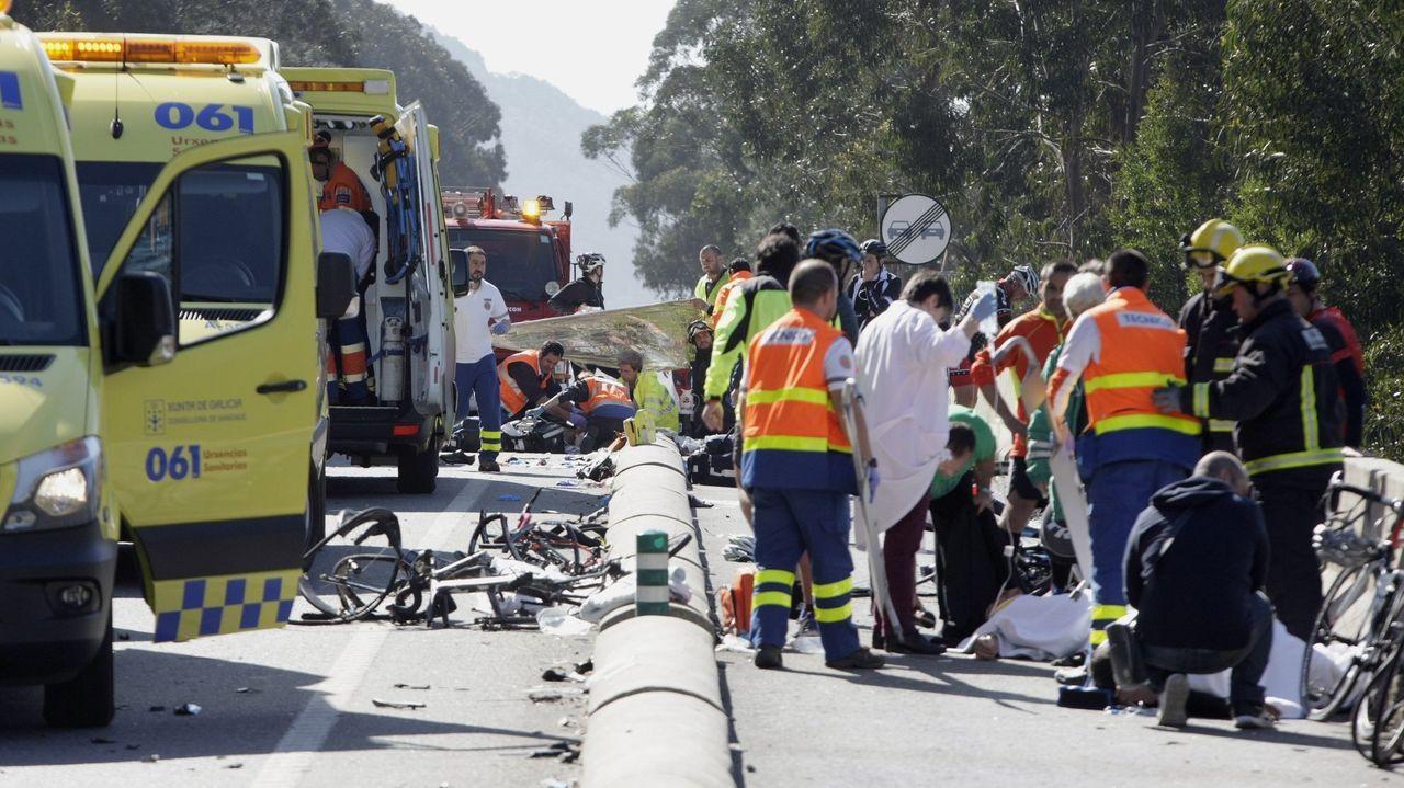 El siniestro mortal tuvo lugar en la carretera de Oira a A Guarda en marzo del 2016