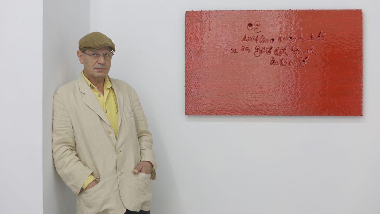 Antón Lamazares expone por primera vez en la galería compostelana Trinta