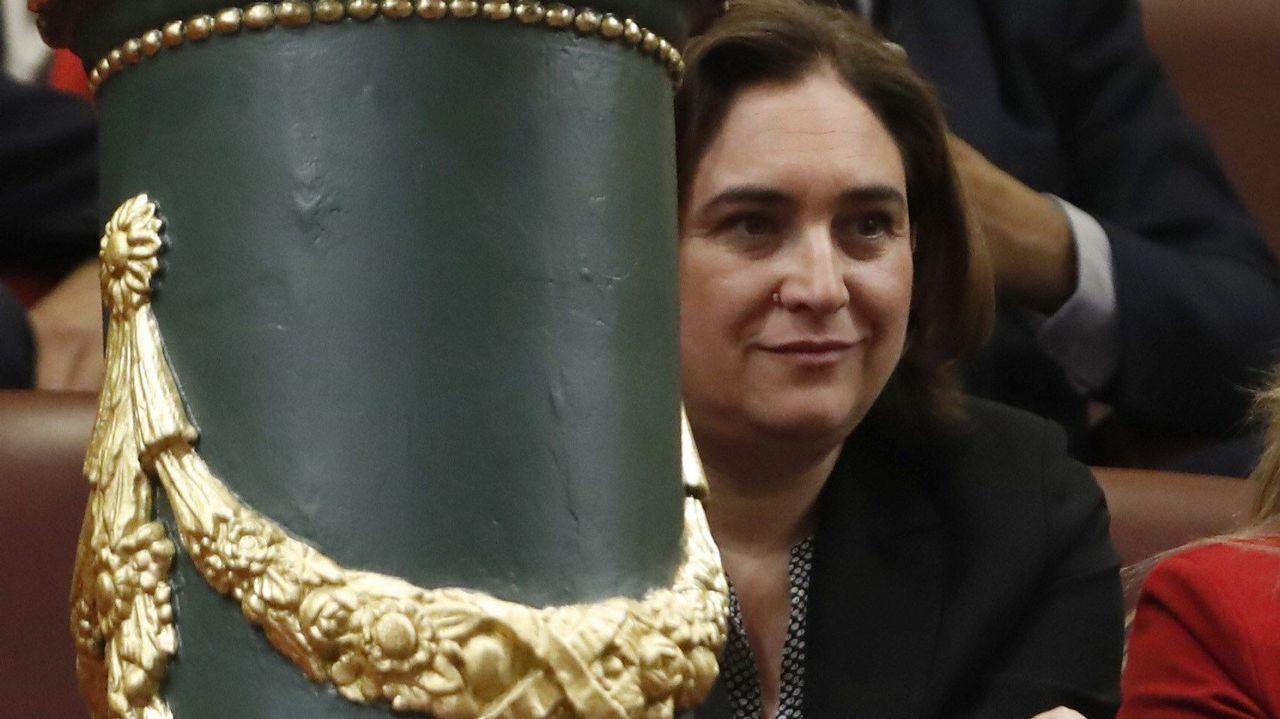La alcaldesa de Barcelona, Ada Colau, también en la tribuna de invitados.