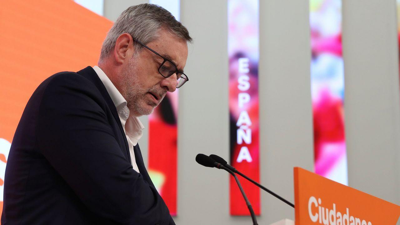 El secretario general de Cs, José Manuel Villegas, hoy en Madrid