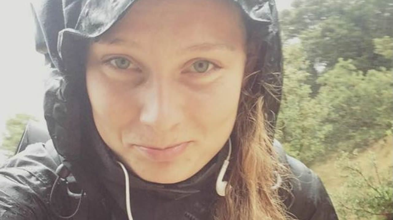 Louisa Vesterager Jespersen durante una de las etapas del Camino de Santiago, que recorrió en noviembre del 2015