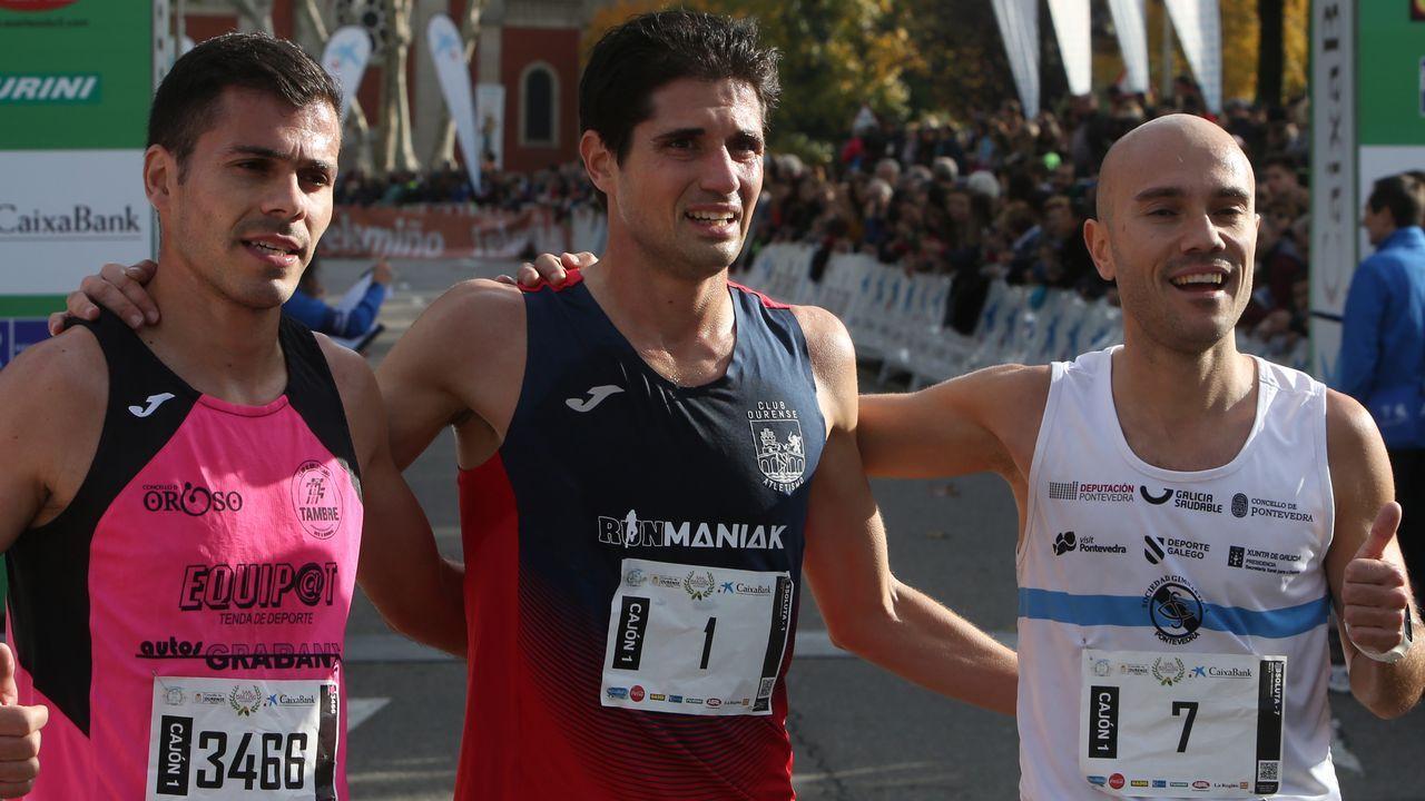 Búscate en la carrera popular de San Martiño.Corredores de la Media Maratón de Gijón