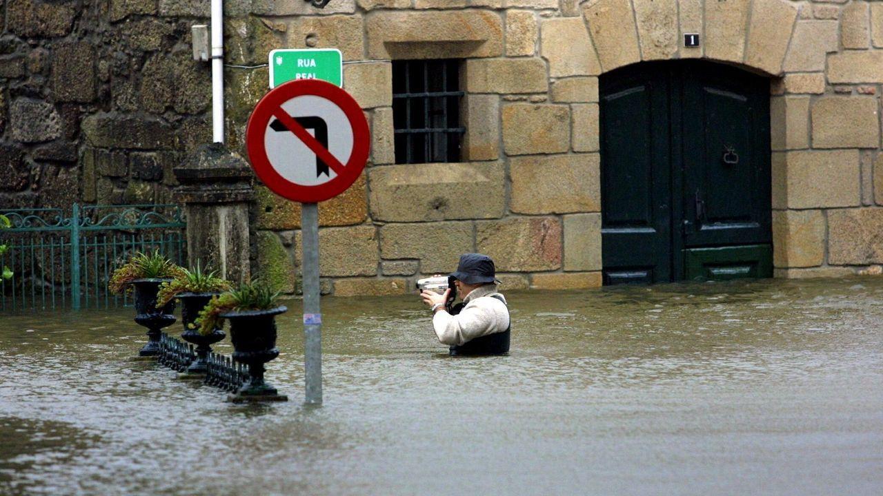 Inundaciones en Caldas de Reis
