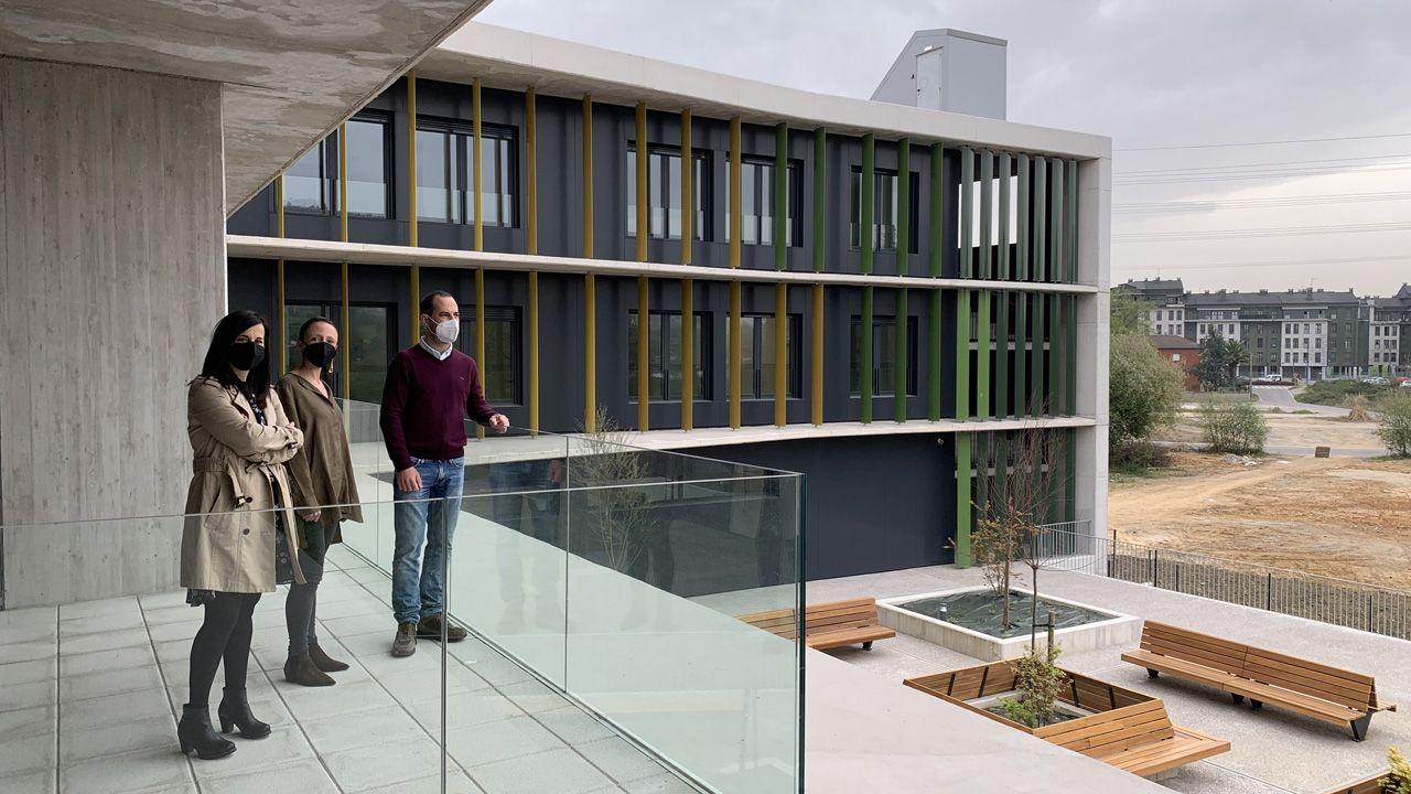 vacunacion asturias.Visita esta mañana a las instalaciones de la nueva residencia pública de personas mayores de Lugones
