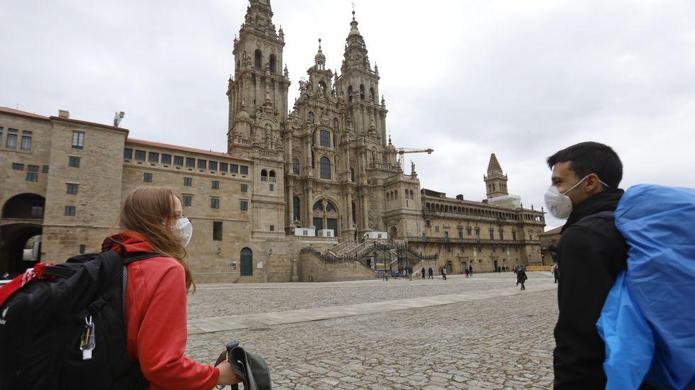 Así fue el proceso de restauración de la fachadaoeste de la Catedral, la más famosa y fotografiada