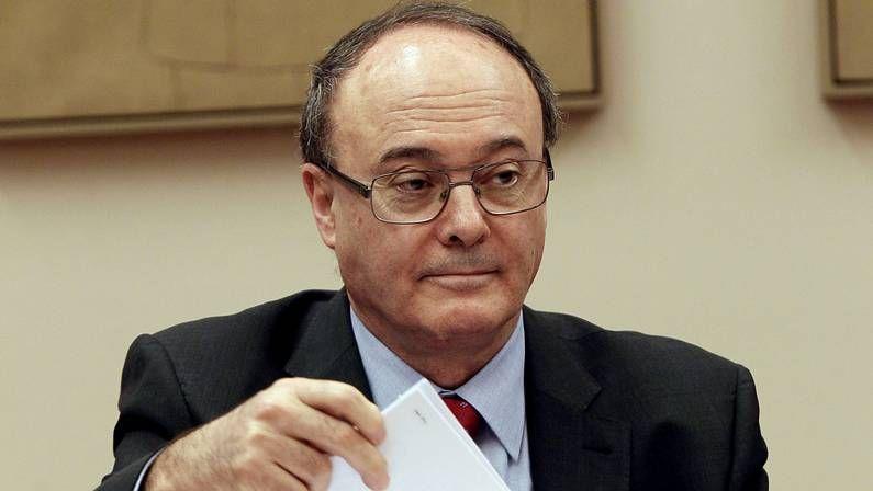 Luis María Linde, en el Congreso