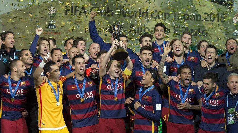 El Barça se proclama campeón de Mundialito de Clubes, en imágenes