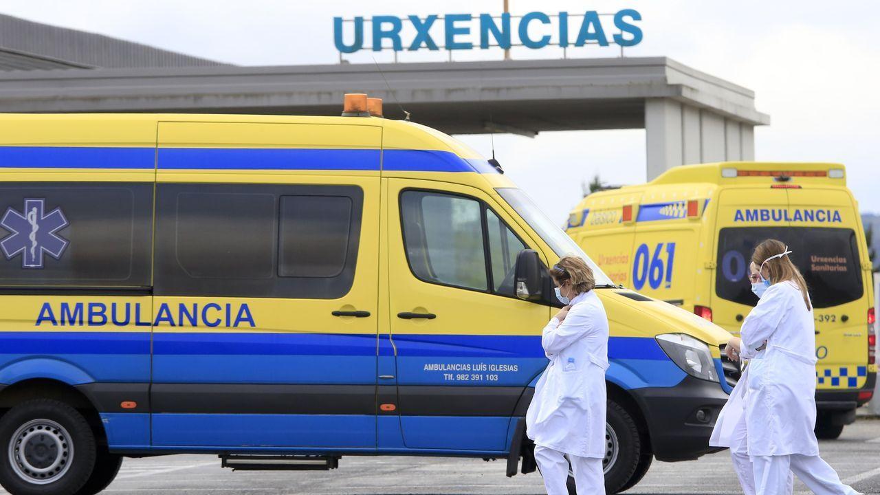 Día 40 + 1 de confinamiento en Galicia.Zona de urgencias del HULA
