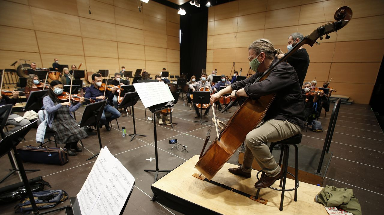 Vuolanne, con el resto de la orquesta, durante un ensayo
