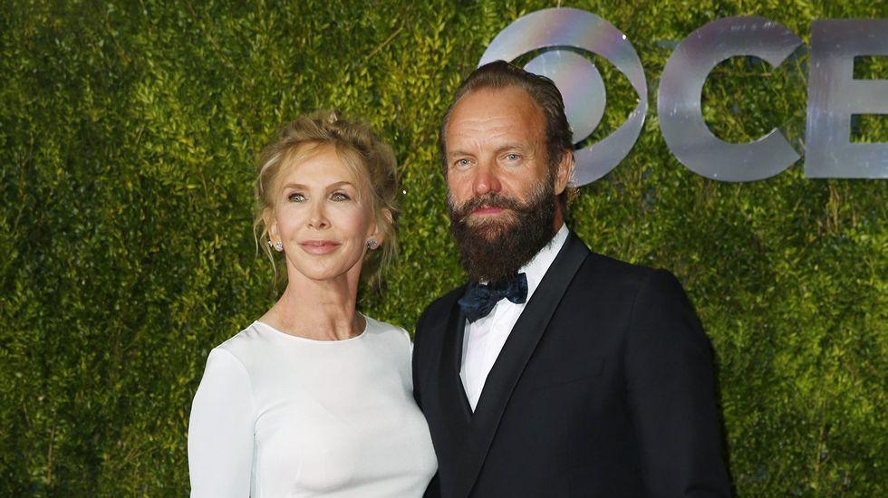 El cantante Sting con su mujer, Trudie Styler.