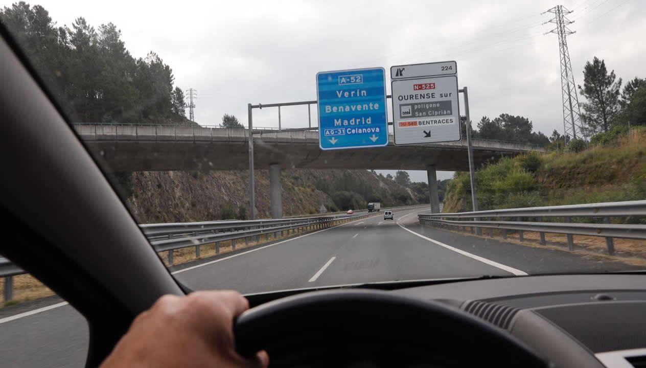 Escaso tráfico y menos controles en la frontera entre Ourense y Zamora