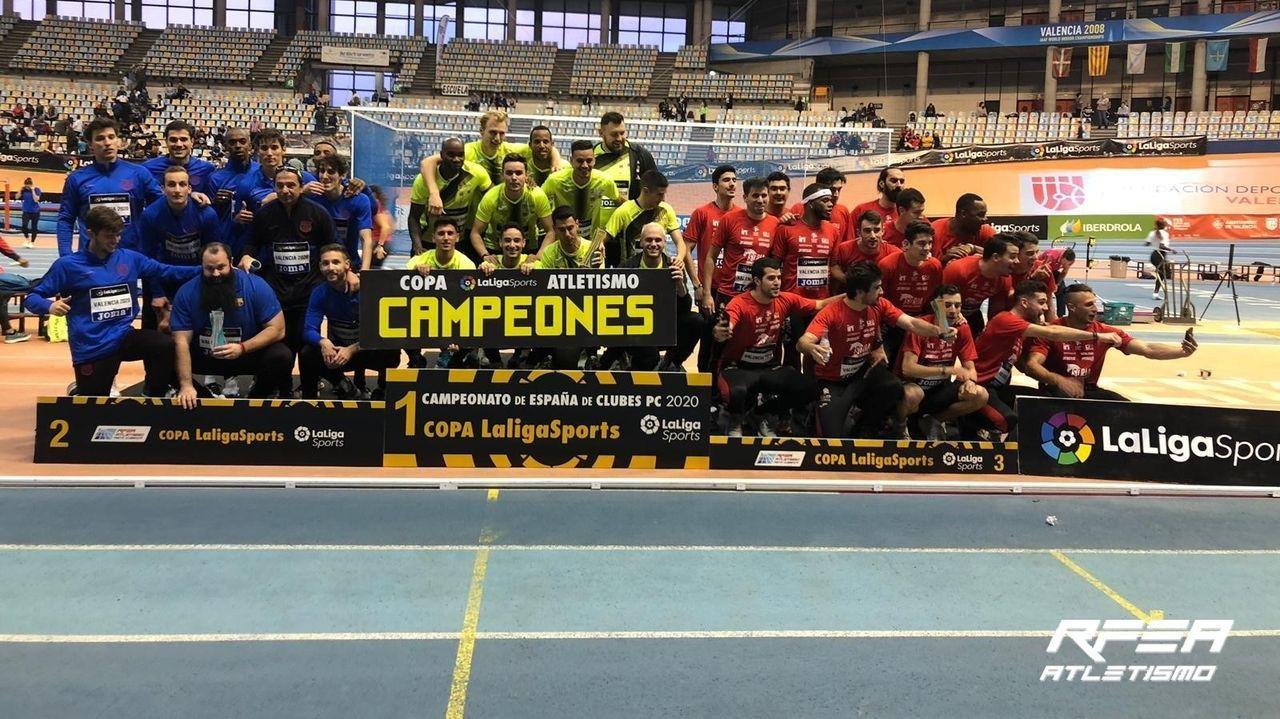 El Campeonato de España de Atletismo invade Ourense.Adrián Ben, en la pista del Centro de Alto Rendimiento
