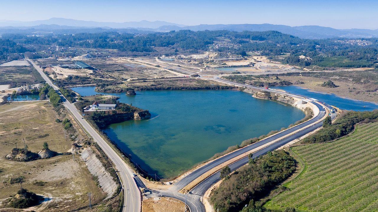 Proyecto de nueva senda para Bañobre.Vista aérea de los terrenos de la PLISAN