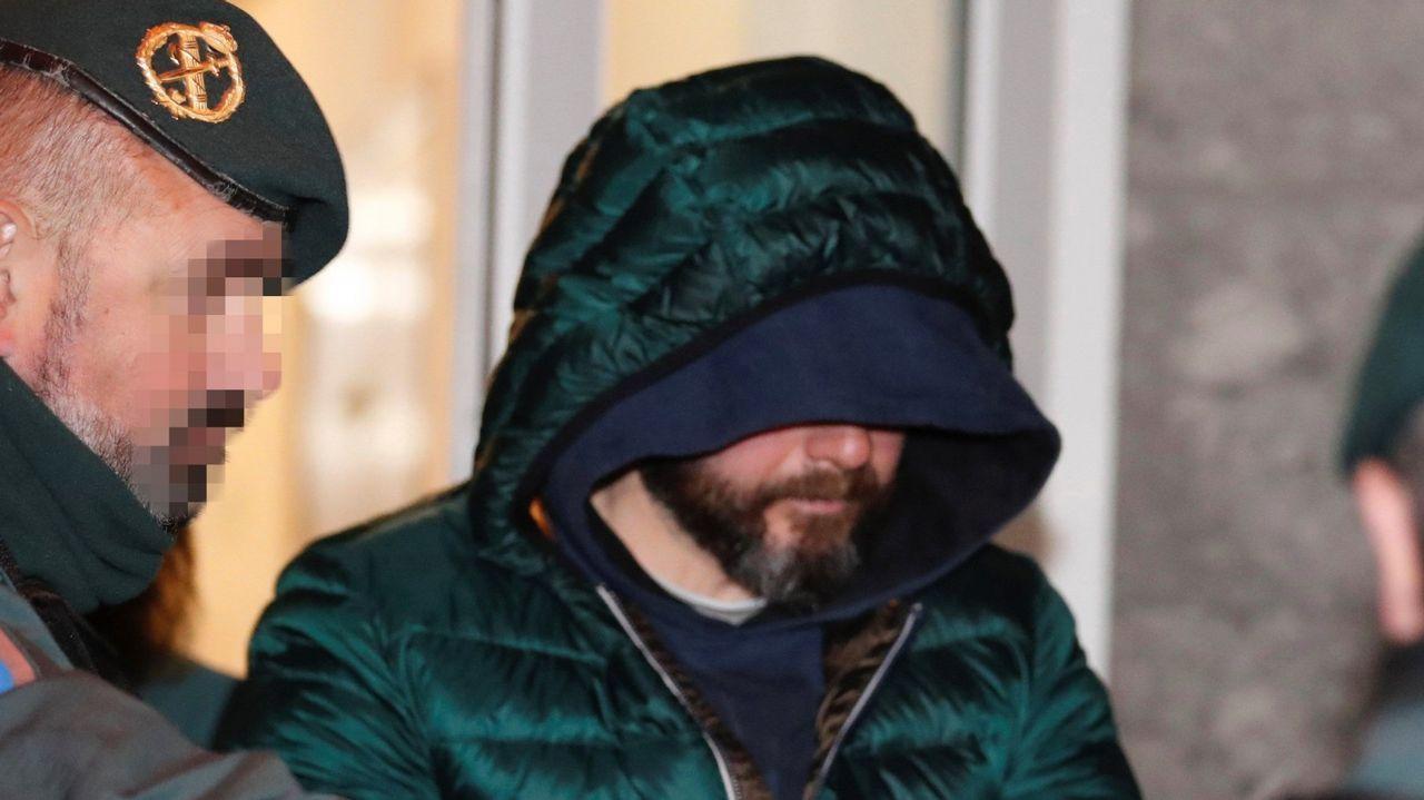 Pedro Luis Nieva, en el momento de ser detenido acusado de ser el inductor del asesinato del concejal de Llanes Javier Ardines