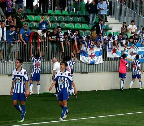 El Fabril ya estuvo arropado por la afición deportivista ante el Cornellá, incluso en Barcelona.